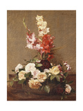 Gladioli and Roses, 1881 Giclee Print by Henri Fantin-Latour