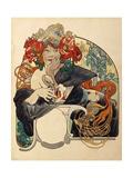 Biere De La Meuse Impressão giclée por Alphonse Mucha