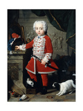 Portrait of a Young Boy in Hungarian Dress Giclee Print by Pierre Subleyras