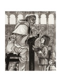 Monk's School Giclee Print by Richard Hook