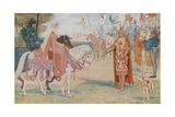 Lancelot Brings Guenevere to Arthur Lámina giclée por Henry Justice Ford