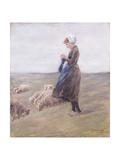 Shepherdess; Schafhirtin, 1887 Giclee Print by Max Liebermann