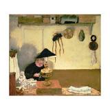 Madame Vuillard Sewing Giclee Print by Edouard Vuillard