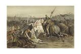 Battle of Worringen, 5 June 1288 Giclee Print by Willem II Steelink