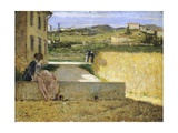 In Shadow of Villa Giclee Print by Silvestro Lega