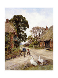 Off to School Giclee Print by Henry John Yeend King