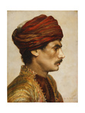 Profile Portrait of a Man in a Red Turban, 1882 Giclee Print by Rudolphe Ernst