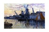 Windmills in Holland, 1908 Giclee Print by Maximilien Luce