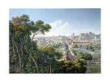 View of the Viminale Hill, Rome, C.1800 Giclee Print by Louis-Francois Cassas
