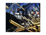 Loading Timber, Southampton Docks, 1916-17 Giclee Print by Christopher Richard Wynne Nevinson
