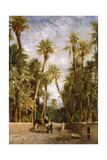 Oasis at Lagrount Giclee Print by Eugene Fromentin