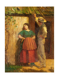 Rustic Courtship Giclee Print by Eastman Johnson