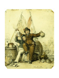Concord Makes Server Giclee Print by George Cruikshank