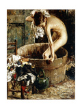 Bathing Giclee Print by Vicenzo Irolli