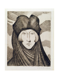 Edith Sitwell Giclee Print by Christopher Richard Wynne Nevinson