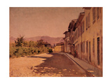 Via Scialoja, Florence, 1875 Reproduction procédé giclée par Telemaco Signorini