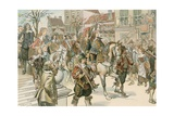 The Arrival of the Great Elector Giclee Print by Carl Rohling