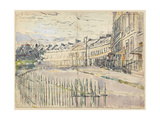 A View of Lansdown Crescent, Bath Giclee Print by Walter Richard Sickert