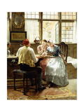 The Game of Checkers Giclee Print by C. Hendrick Nordenberg