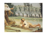Peasants Resting Giclee Print by Giandomenico Tiepolo