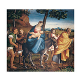 Flight into Egypt Giclee Print by Jacopo Bassano