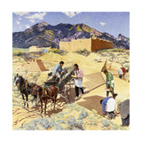 Builders in the Desert Giclee Print by Walter Ufer
