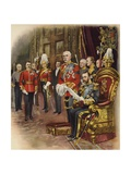 King George V Holds His First Court, May 1910 Giclee Print by Henry Payne