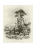 Fountain at Carnelo Giclee Print by William Leighton Leitch