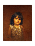 Indian Child with Tear Giclee Print by Grace Carpenter Hudson