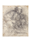The Madonna and Child with a Carthusian Monk Giclee Print by Alessandro Tiarini