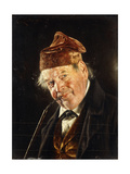 A Man with a Pipe Giclee Print by Carl Kronberger