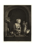 A Woman Hanging Up a Fowl Giclee Print by Gerrit or Gerard Dou