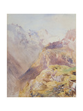 Lauterbrunnen Valley from Murren Giclee Print by Alfred William Hunt