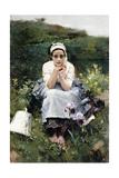 The Milkmaid, C.1890 Giclee Print by Joaquín Sorolla y Bastida