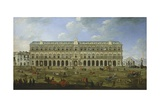 The Royal Palace in Naples Giclee Print by Angelo Maria Costa