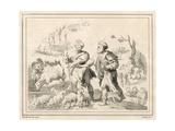 Two Herdsmen Giclee Print by Maarten de Vos