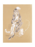 Woman Sitting Giclee Print by Jules Pascin