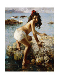 The Girl on the Rock Giclee Print by Vicenzo Irolli