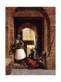Arnaut Bodyguards in Cairo, 1861 Giclée-tryk af Jean Leon Gerome