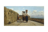 Water-Carriers at La Spezia Giclee Print by Vincenzo Cabianca