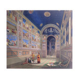 Giotto Painting the Interior of the Scrovegni Giclee Print