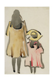 Back View of Two Children Giclee PrintJoseph Crawhall