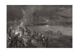 Germans on the Watch at the River Maas Giclee Print by Felix Schwormstadt