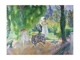 Two Women in a Garden in Summer, C.1923 Giclee Print by Henri Lebasque