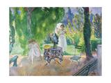 Two Women in a Garden in Summer, C.1923 Giclee Print by Henri Lebasque