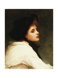 The Black Hat, 1892 Giclee Print by Philip Hermogenes Calderon