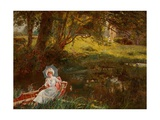 Lady in a Punt Giclee Print by Henry John Yeend King