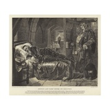 Argyle's Last Sleep before His Execution Giclee Print by Edward Matthew Ward