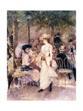 Figures in a Park Giclee Print by Francesco Miralles Galaup