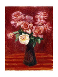 Pink Roses Giclee Print by William James Glackens